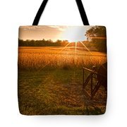 The Wood Cutter Buzz Saw Tote Bag