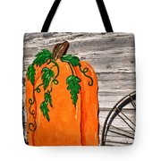 The Wooden Pumpkin Tote Bag