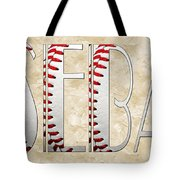 The Word Is Baseball Tote Bag by Andee Design