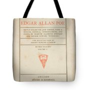 The Works Of Edgar Allan Poe Tote Bag