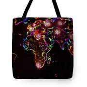 The World At Night  Tote Bag by Augusta Stylianou