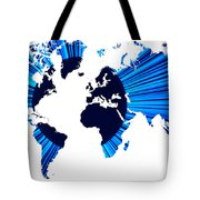 The World Map And Globe Tote Bag