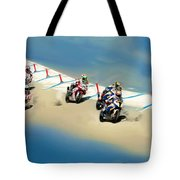 The World Super Bike Grid Tote Bag