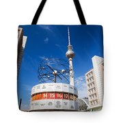 The Worldtime Clock Alexanderplatz Berlin Germany Tote Bag