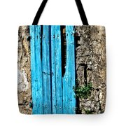 The Worn Blue Shutter Tote Bag