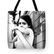 The Worried Little Girl Tote Bag