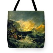 The Wreck Of A Transport Ship Tote Bag