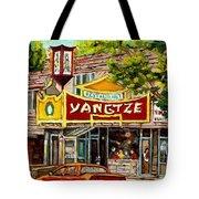 The Yangtze Restaurant On Van Horne Avenue Montreal  Tote Bag