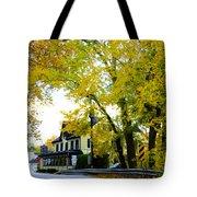 The Yardley Inn In Autumn Tote Bag