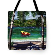 The Yellow And Red Boat Tote Bag