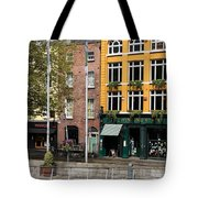 The Yellow House At The Liffey River - Dublin - Ireland Tote Bag
