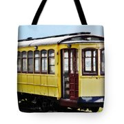 The Yellow Trolley Car Tote Bag