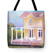 The Yellow Victorian By The Sea Tote Bag