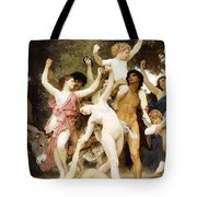 The Youth Of Bacchus Detail Tote Bag