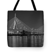 The Zakim Bridge Bw Tote Bag
