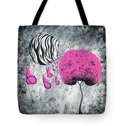 The Zebra Effect 1 Tote Bag by Oddball Art Co by Lizzy Love