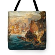 The Crusader Invasion Of Constantinople Tote Bag
