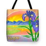 Themes Of The Heart-hope Tote Bag