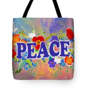 Themes Of The Heart-peace Tote Bag