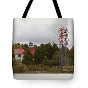Grand Traverse Lights - Then And Now Tote Bag