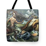 There's Something Fowl Afloat Tote Bag