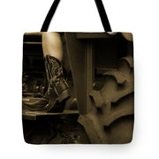 These Boots 1 Sepia Tote Bag