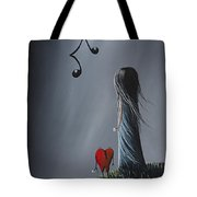 They Feel Your Love Song - Surreal Art By Shawna Erback Tote Bag by Shawna Erback