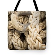 Braided Rope With Eyelet Tote Bag