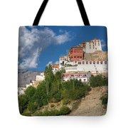 Thiksay Monastery Ladakh Jammu And Kashmir India Tote Bag