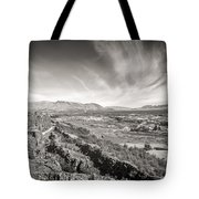 Thingvellir Iceland Black And White Tote Bag