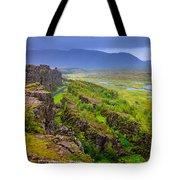 Thingvellir National Park Rift Valley Tote Bag