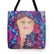 Thinking Of Peace Tote Bag