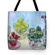 Thinking Of Cezanne Green Tote Bag