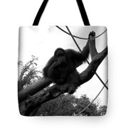 Thinking Of You Black And White Tote Bag