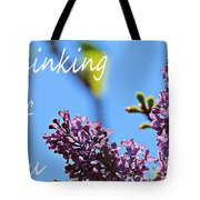 Thinking Of You - Greeting Card - Lilacs Tote Bag