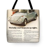 This Baby Won't Keep You Up Nights Tote Bag by Georgia Fowler