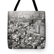 This Is Tokyo In Black And White Tote Bag
