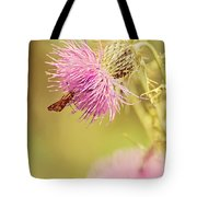Thistle And Friend Tote Bag
