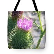 Thistle Flower Tote Bag