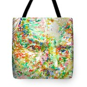 Thomas Bernhard Watercolor Portrait Tote Bag