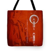 Thomas Edison Electric Lamp Patent Drawing From 1880 Tote Bag by Aged Pixel