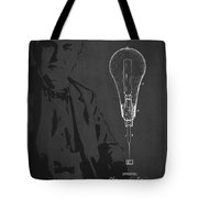 Thomas Edison Incandescent Lamp Patent Drawing From 1890 Tote Bag