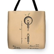 Thomas Edison Patent Application For The Light Bulb Tote Bag by Movie Poster Prints