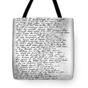 Thomas Gray: Elegy, 1750 Tote Bag