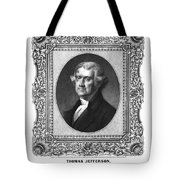 Thomas Jefferson Tote Bag by Aged Pixel