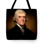 Thomas Jefferson By Rembrandt Peale Tote Bag by Bill Cannon