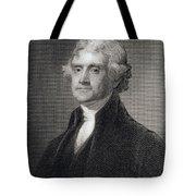 Thomas Jefferson Tote Bag by Gilbert Stuart
