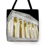 Thomas Jefferson Memorial At Night  Tote Bag