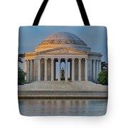 Thomas Jefferson Memorial At Sunrise Tote Bag