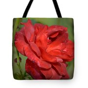 Thorny Red Rose Tote Bag